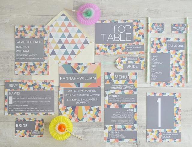 Geometric stationery