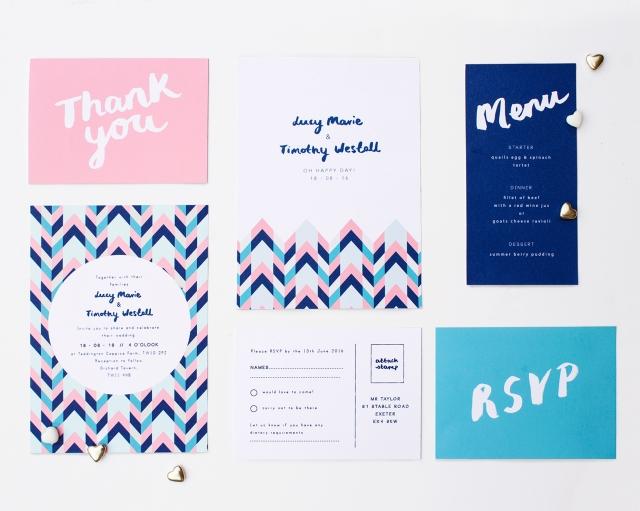 Wedding stationery by TheLovelydrawer