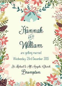 Swoon at the Moon Winter Garden Invitation (From £2.25 with envelope, www.swoonatthemoon.co.uk)