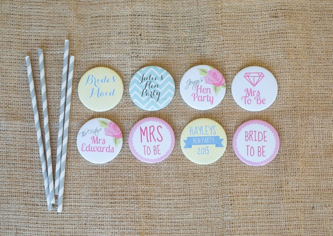 wedding badges; hen do badges