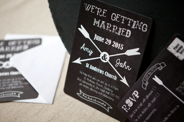 Chalkboard & Arrow Wedding Stationery