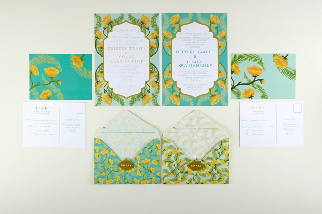 Beach wedding stationery, Tuppence Collective