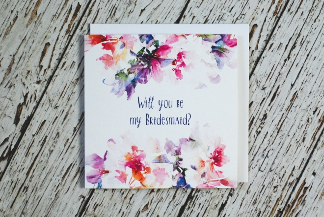 Be my bridesmaid card