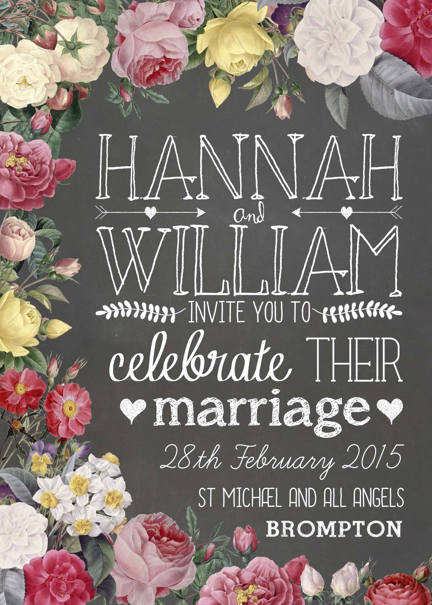 5 of the best chalkboard wedding invites Paper Bride Blog – Chalkboard Invitation