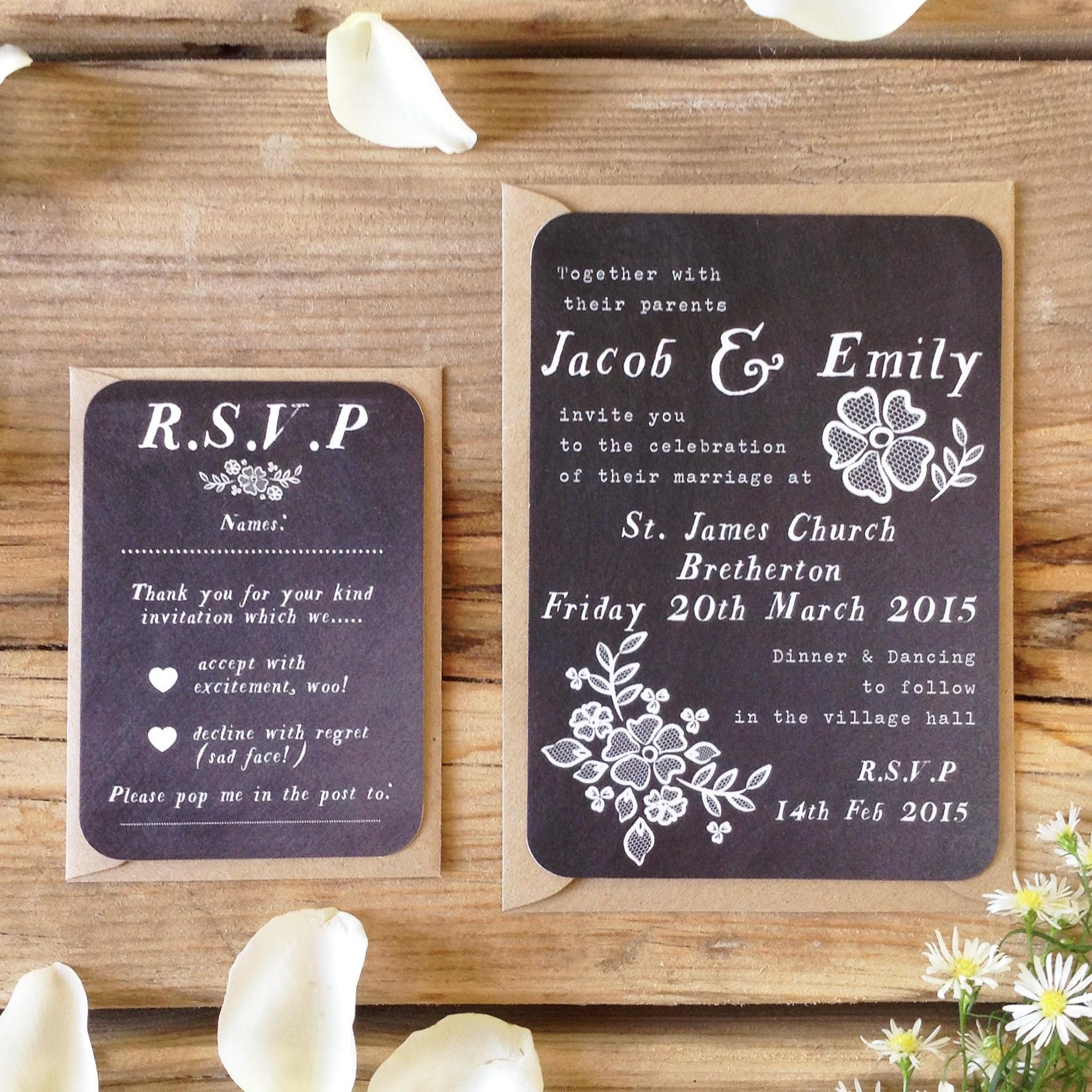 5 Of The Best Chalkboard Wedding Invites Paper Bride Blog