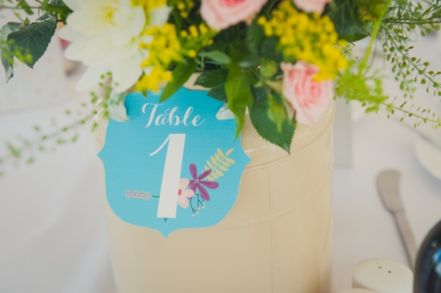 Table number by Lizzie May