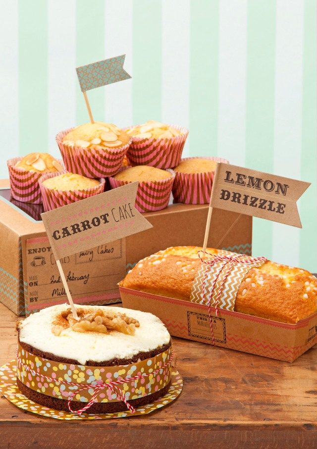 Talking Tables - Bake Sale - Large food flags, cupcake cases, loaf moulds, cake box - Lifestyle - Portrait