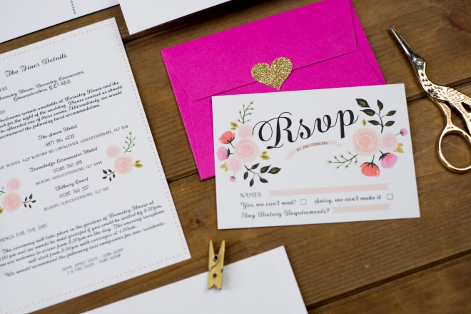 Peony stationery The Charming Press