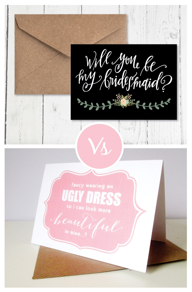 Be my bridesmaid cards