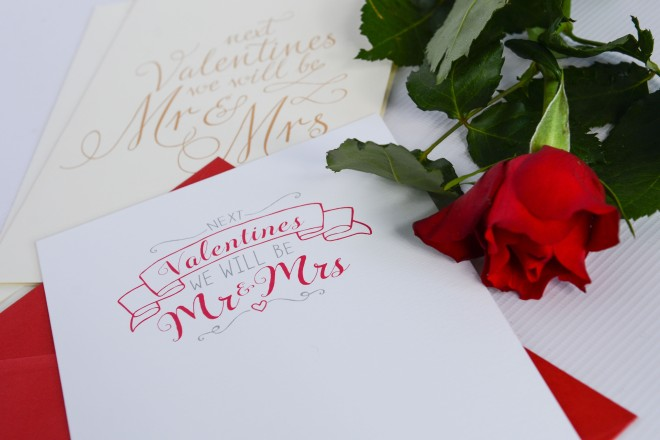 Mr & Mrs Valentines card
