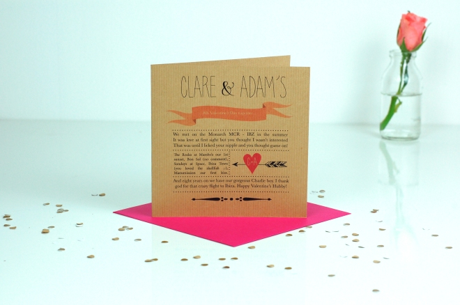 OurStoryValentines card£3.50MadewithlovePersonalisedCardboutique