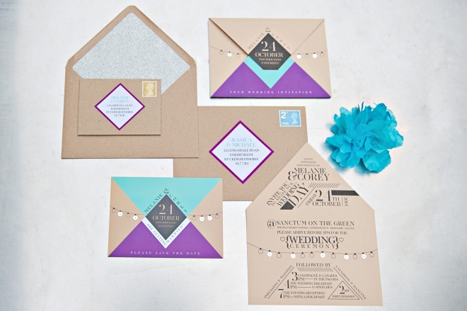 Urban Glam wedding stationery by Paperknots – perfect stationery for a city wedding
