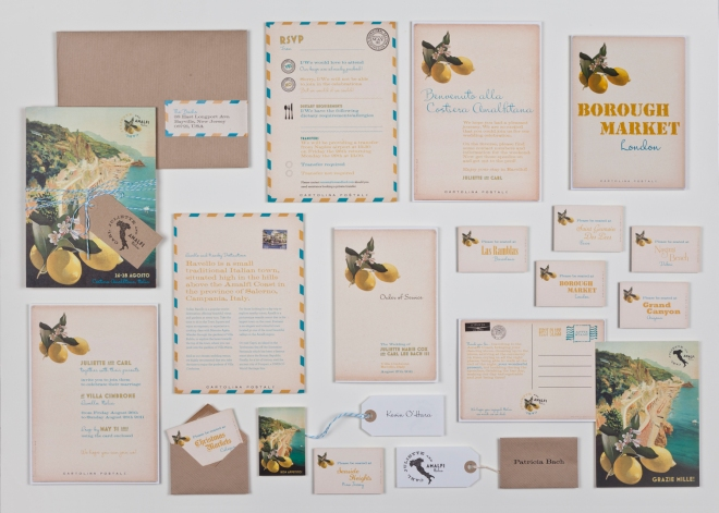 Louise Richardson Stationery wedding abroad stationery