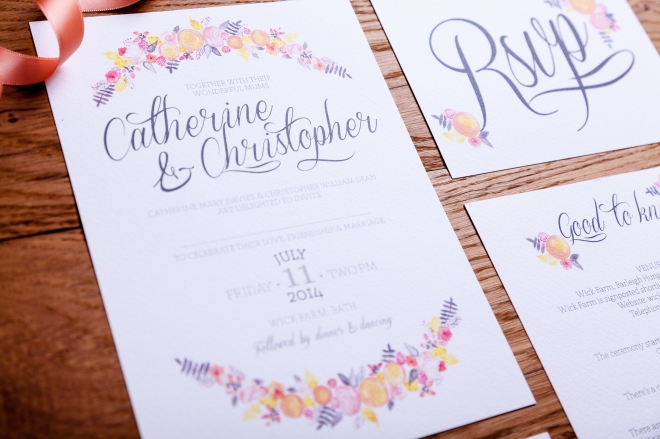 Guide to printing your own wedding stationery