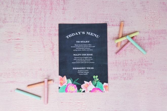 Chalkboard wedding stationery, blackboard wedding stationery, BerinMade invites