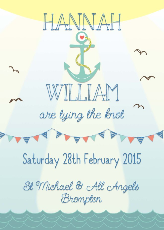 Nautical wedding invites, beach wedding invites, seaside wedding invites, Swoon at the Moon