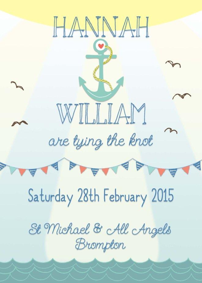 Nautical wedding invites, beach wedding invites, seaside wedding invites, Swoon at the Moon