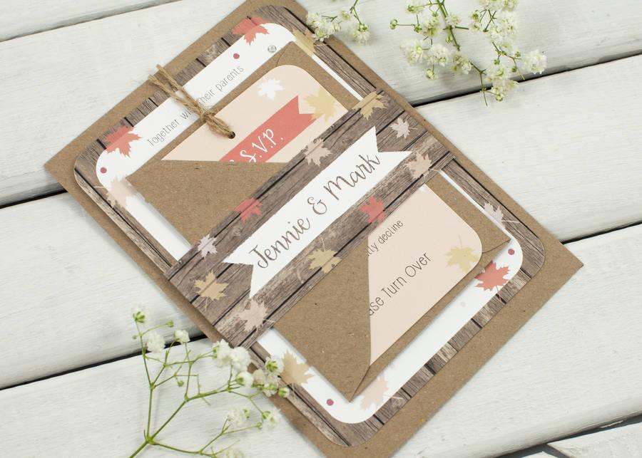 Wedding invites for an autumn wedding – Paper Bride Blog