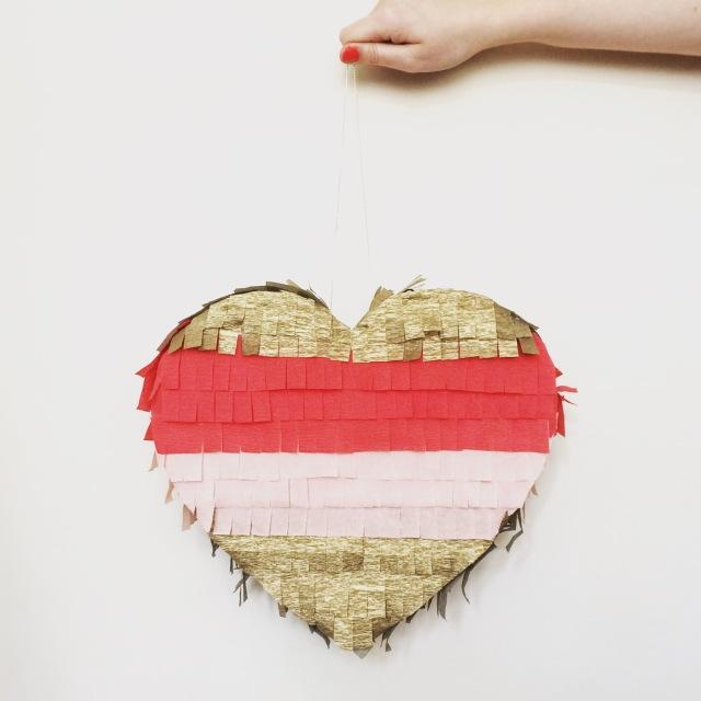 DIY wedding heart pinata project